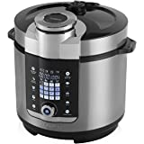 Tower Health T16012 Digital Multi-Pot Pressure Cooker, 1000 W, 6 Litre, Stainless Steel
