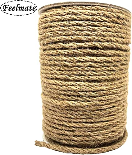 100 m corda da giardino 4 mm corda di iuta Absofine naturale iuta fai da te per casa giardino fai da te artigianato decorazione