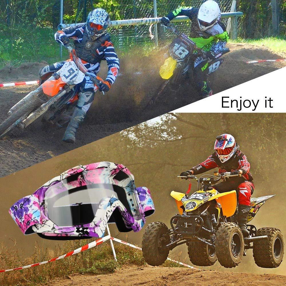 MOTORFANSCLUB Gafas de moto Gafas crossed Gafas ciclismo Gafas Protecci/ón Mascara para Moto Motocross Esqui Deporte Ajustable