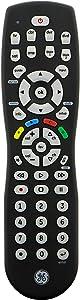 GE Universal Remote Control for Samsung, Vizio, Lg, Sony, Sharp, Roku, Apple TV, RCA, Panasonic, Smart TVs, Streaming Players, Blu-Ray, DVD, Simple Setup, 8-Device, Black, 24927, Silver
