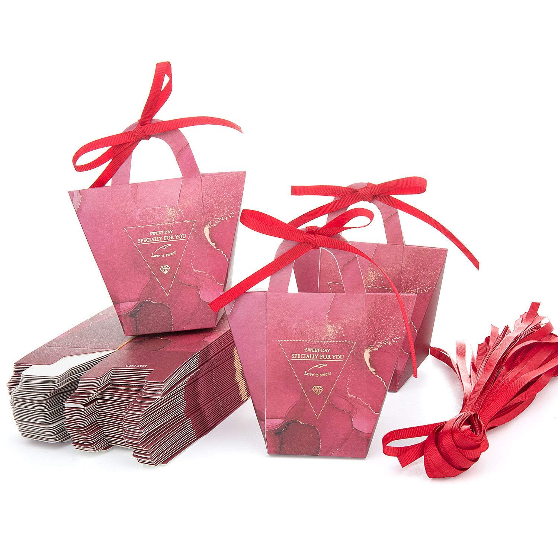 Bonbons Boîtes-Cadeaux maojuee 50pcs Bonbons Boîtes Anniversaire Candy Cases sweet cadeau