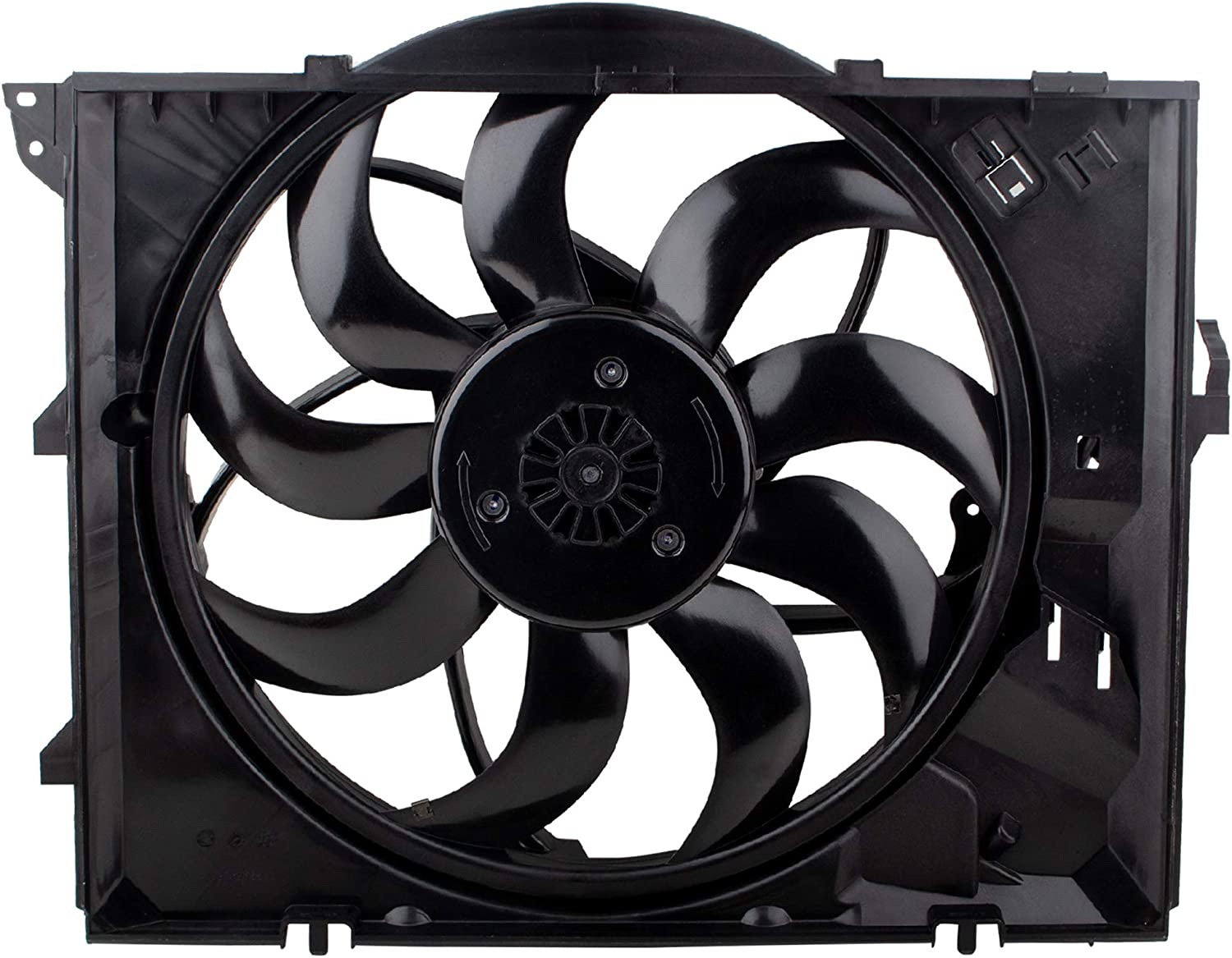 BOXI Radiator Cooling Fan Assembly for 2008-2013 BMW 128i Convertible/ 2006 BMW 325i/ 2007-13 BMW 328i/ 2006 BMW 330i / BMW E87 E90 L6 3.0L N52N Engine ONLY (Replaces 17427562080 BM3117101)