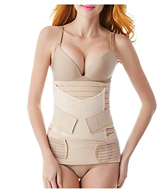 78ed5adcb9 FOMANSH 3 in 1 Postpartum Belly Wrap Postpartum Girdle Belt Support Recovery  Corset Shapewear Belly Waist