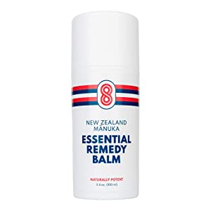 BIOACTIVE 8 ESSENTIAL REMEDY BALM, Moisturizing Body Lotion, Naturally Potent Manuka Oil, 30X More Potent Than Tea Tree Oil, Quick Relief For Stubborn Skin Problems. Great For Athletes Foot. Made in USA.