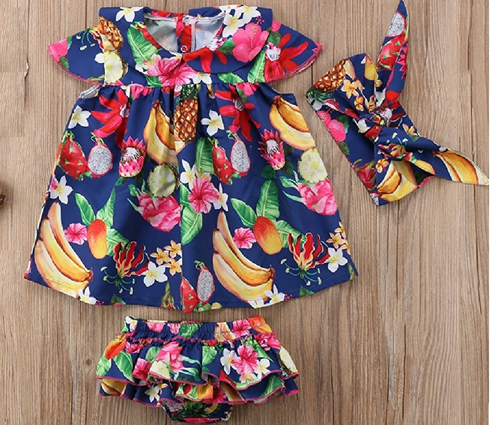 The Blue Fruit /& Flower Dress Set from Chunks of Charm