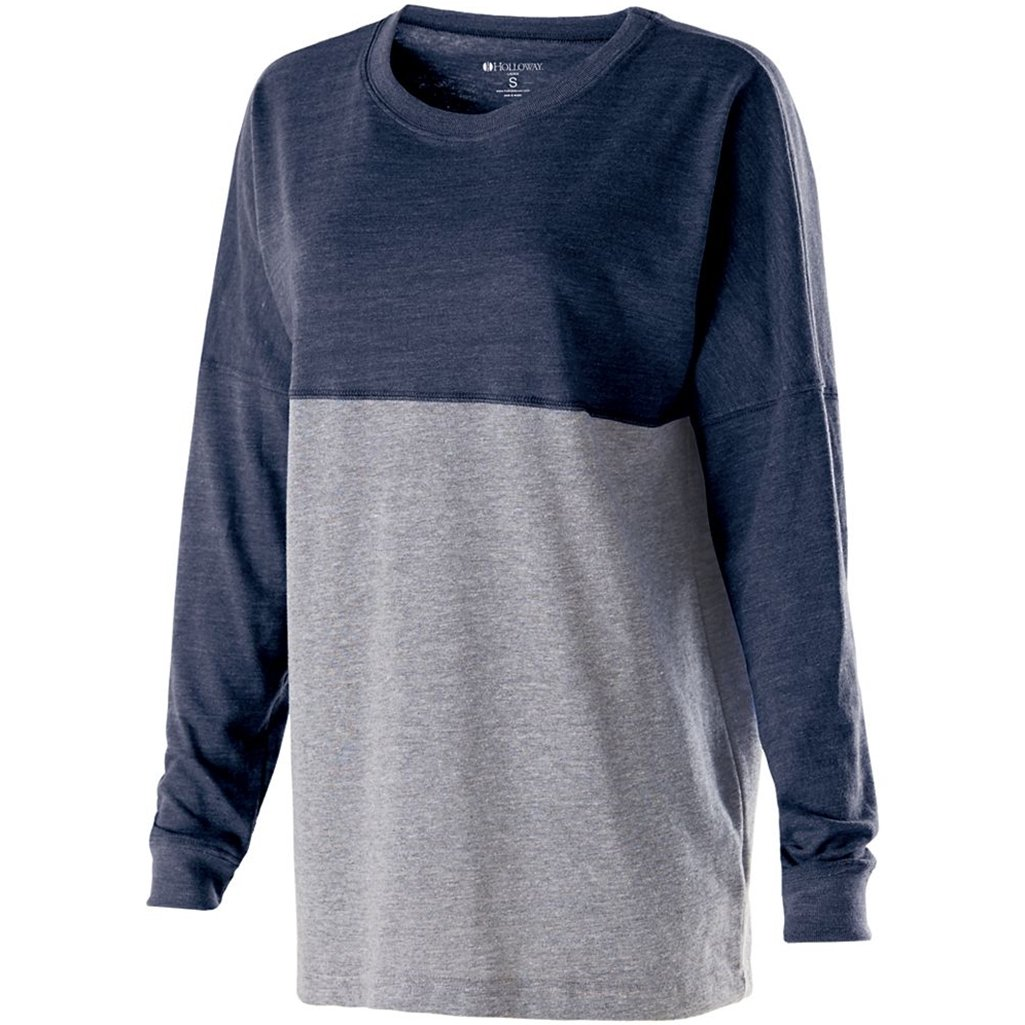 Holloway Juniors Low Key Pullover (X-Small, Vintage Navy/Vintage Grey) by Holloway