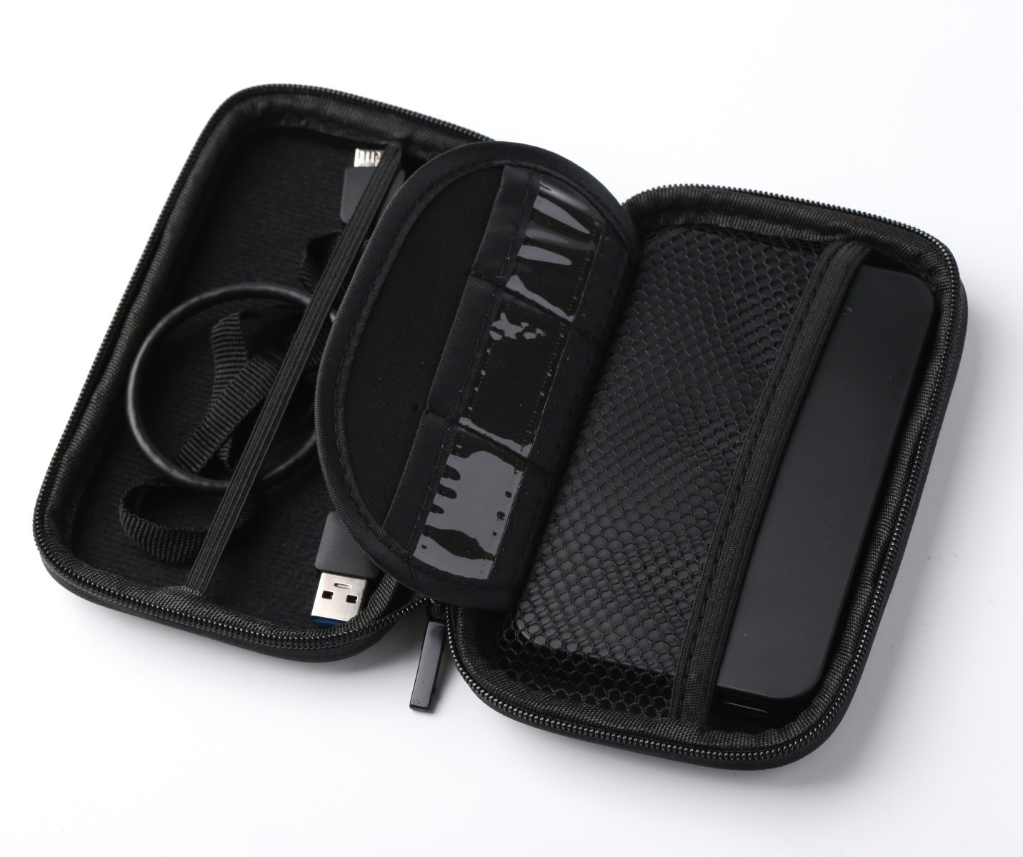 Junmin Laptop USB 3.0 Sata III External Hard Drive Enclosure Case with bag for 2.5 Inch Slim SSD HDD