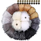 866955d5a86 Auihiay 20 Pieces Faux Fur Pom Pom Ball Removable Fluffy Pompom with Press  Button for Knitting