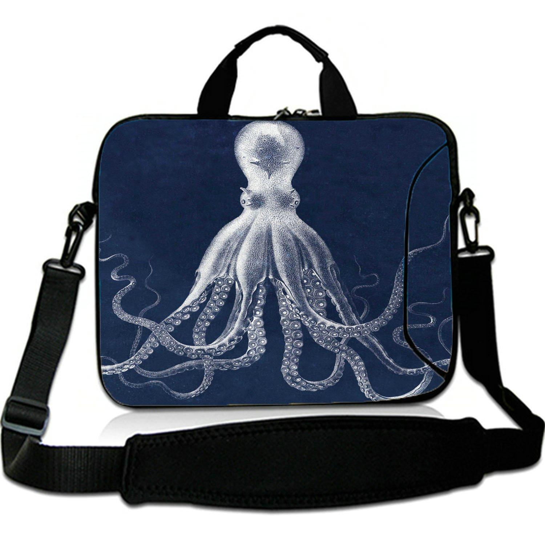 8fc4cdd6c2b4 Amazon.com: 15 Inches Laptop Shoulder Bag Briefcase Octopus Blue ...