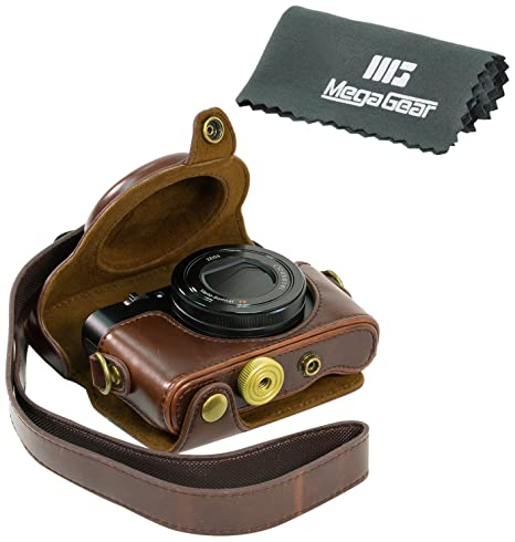 Megagear &quot;Ever Ready&quot; Protective Brown Leather Camera Case , Bag For Sony Dsc-Rx100 Rx100 <span at amazon