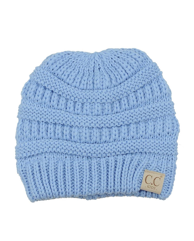 Mignon bonnet C.C de ski, tricoté chaud, doux et confortable pour enfant. Produit offert par NYFASHION101®
