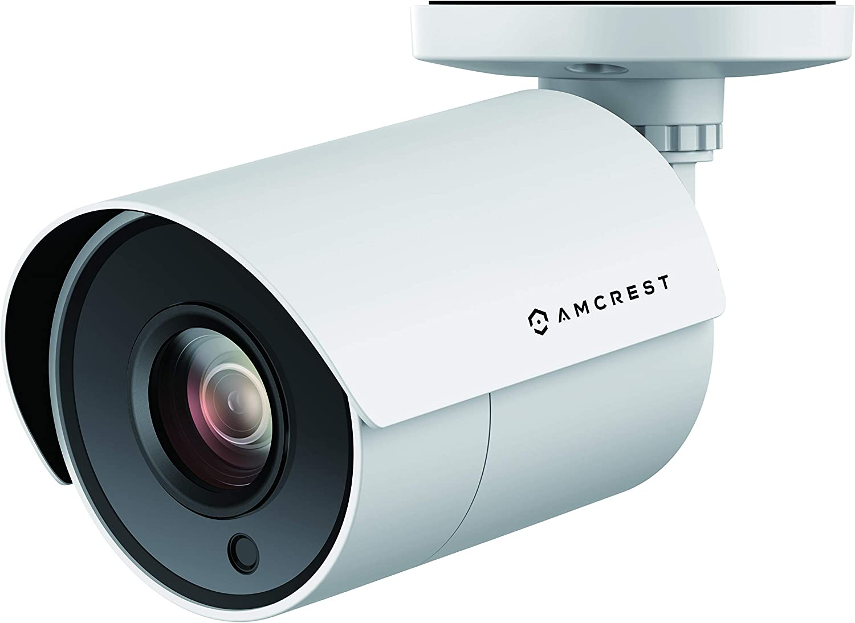 Amcrest UltraHD 4K Bullet Outdoor Security Camera, 4K (8-Megapixel), Analog Camera, 100ft Night Vision, Heavy Duty Housing, 3.6mm Lens 87° Wide Angle, White (AMC4KBC36P-W)