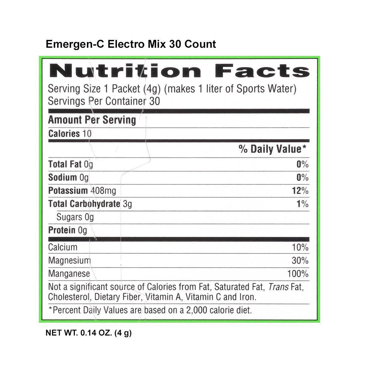 Emergen-C Electro Mix mezcla de bebidas de reemplazo de electrolitos, Potasio, magnesio, Calcio, 0,14 g paquetes (30 Count): Amazon.es: Salud y cuidado ...