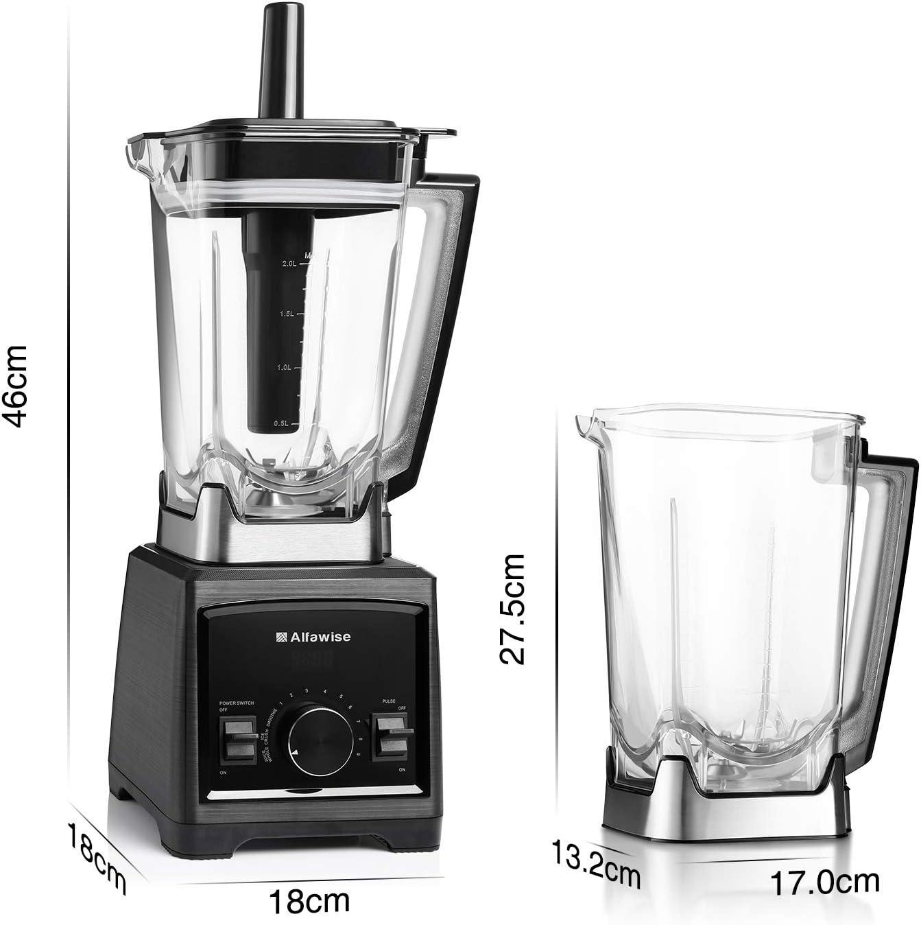 Alfawise 2000W Batidora de vaso 2L Licuadora vaso Mixer Cocina ...