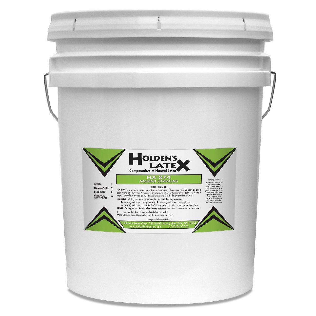 HX-874 Natural Liquid Latex Mold Making Rubber (Five Gallons)