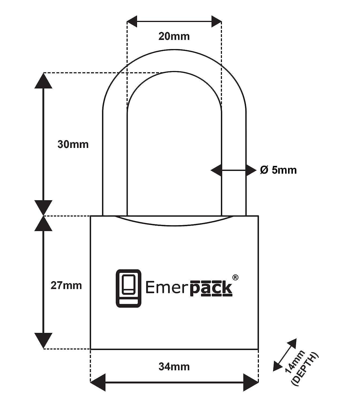 Gym Patinete Moto//Arco Largo//Cerradura con Llave de Coche Corte Interno Equipaje Candado con Llave de Corte Laser de Alta Seguridad//Candados Antirrobo Para Cadena de Bici//Bicicleta Vestuario