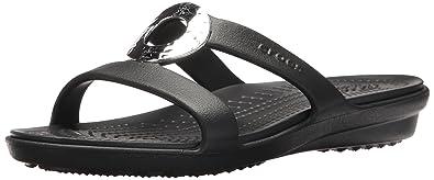 crocs Damen Sanrah Hammered Metallic Sandal Women