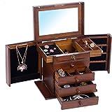 Rowling Boîte à bijoux en Bois Mallette/Coffret à Bijoux Brun Héritage Boîte à bijoux ancienne MG002