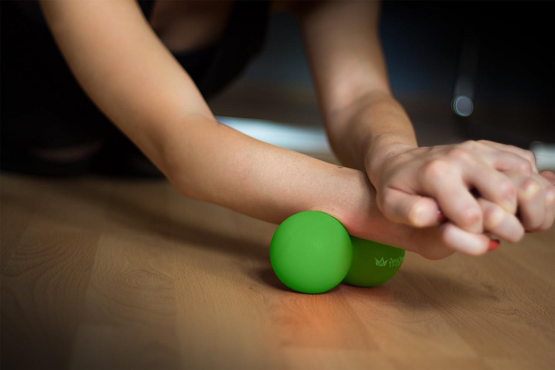Tasche /& Einstiegsguide I Mini Faszienrolle Wirbels/äule I Massageball R/ücken I Faszien Rolle Duoball Faszienball ZenBall Duo mit Gratis E-Book