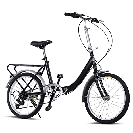 Amazon.com : Pesters Folding Bike 20 Inch 7 Speed Loop Steel Frame ...