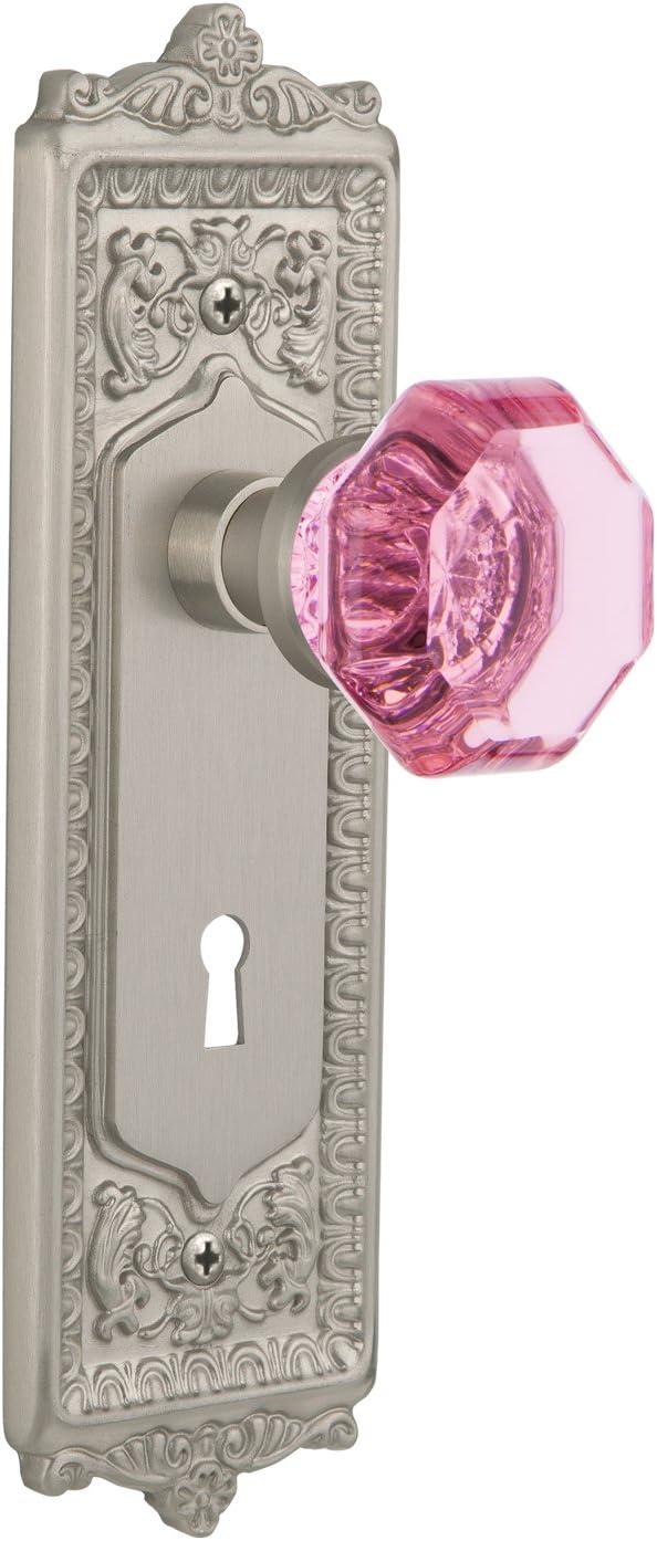 Nostalgic Warehouse Egg /& Dart Plate Keyhole Privacy Waldorf Pink Door Knob 2.75