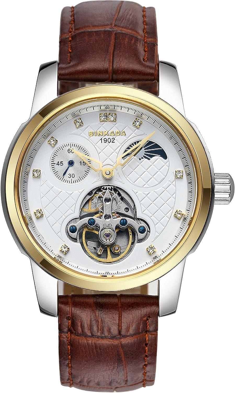 BINKADA自動機械ホワイトダイヤルメンズ腕時計# 800302 – 3 B014WLCMEY