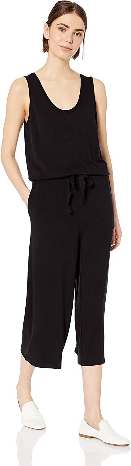Amazon Brand - Daily Ritual Women's Supersoft Terry Sleeveless Wide-Leg Jumpsuit