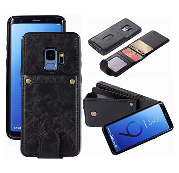 b67318db Galaxy S9 Wallet Case with 6 Card Holder, Detachable Leather Hynice Purse  for Women Men with Kickstand Credit Slots Shockproof Slim Cover Flip Case  ...