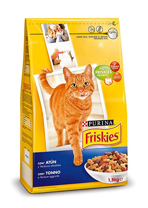Purina Friskies Pienso para Gato Adulto Atún y Verduras 6x1,5 Kg (Total 9kg