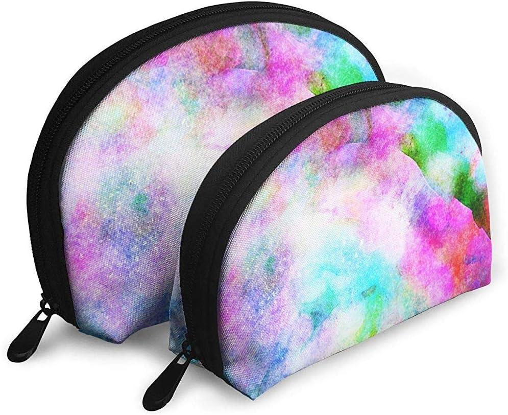 Arte de Fondo Bolsas portátiles Rainbow Bolsa de Maquillaje Bolsa de Aseo, Bolsas de Viaje portátiles multifunción Pequeña Bolsa de Embrague de Maquillaje con Cremallera