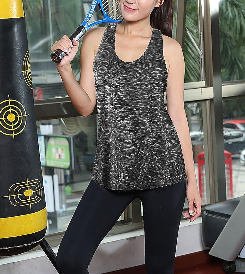Cindeyar Womens Tank Tops Sport Top Vest Women Sleeveless Shirt Yoga Top Activewear Workout Ladies Exercise Gym Basic Tee