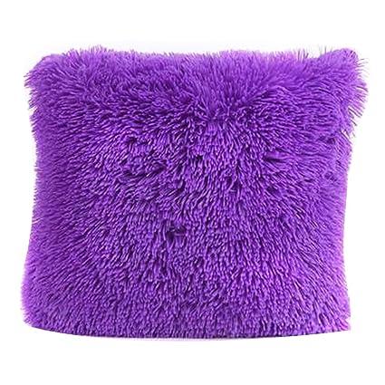 Cojín Pelo decorativo para sofá 43 x 43 cm fundas para ...