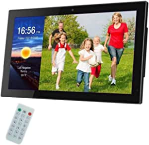 Digital Photo Frame 27 Inch IPS Screen Digital Photo Frames with USB SD Card Slots and Remote Control Digital Picture Frame HD 16:9 Widescreen,Black