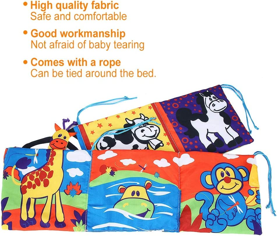 livre en tissu anti-d/échirure pour b/éb/é lit d/éducation pr/écoce pour b/éb/é autour du livre pour enfants gar/çons filles Livre en tissu pour b/éb/é