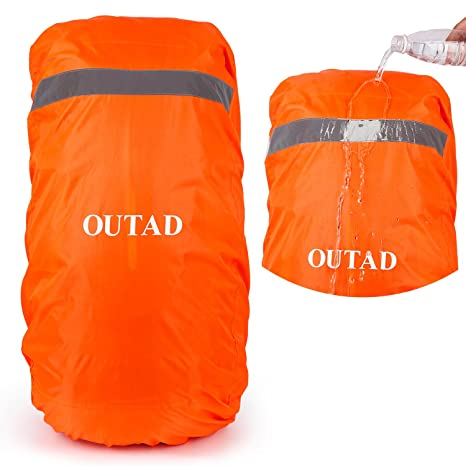f88209611e1d OUTAD Waterproof Backpack Rain Cover With Reflective Strip (Orange ...