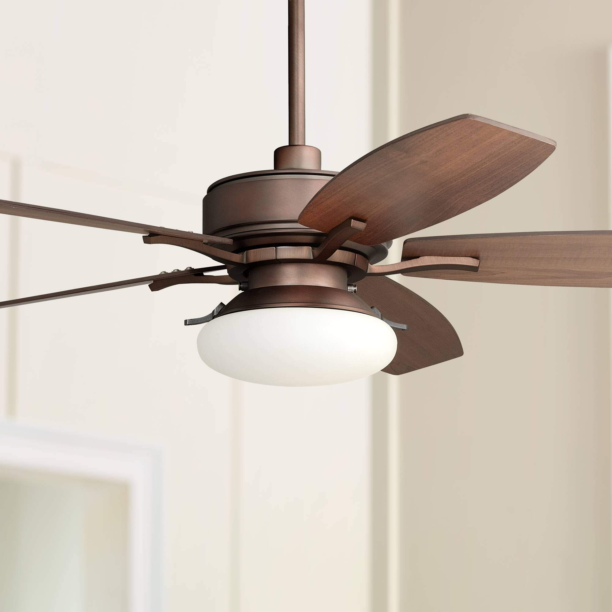 52'' Bellasario LED Oil-Brushed Bronze Ceiling Fan - Casa Vieja