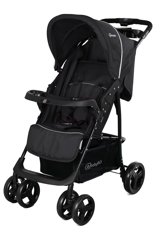 BabyGO 6303 Basket Buggy Sport Kinderwagen mit voller Liegefunktion optional 2in1, schwarz BabyGo Baby Products GmbH