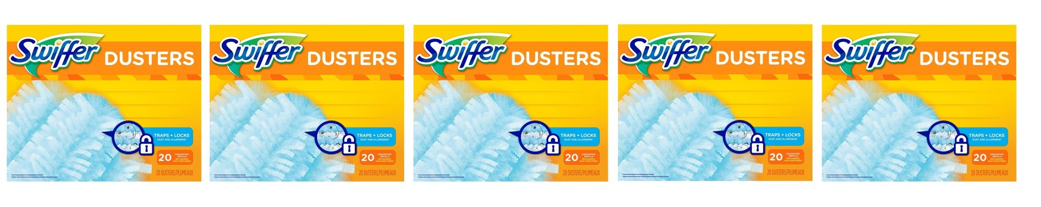 Swiffer 180 Dusters Refills Unscented PGwjXB, 5Pack (20 Count)
