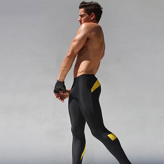 ded61da9fa560a iiSport- Pantaloni Aderenti Uomo Corsa Autunno - Inverno Pantaloni da  Jogging Tuta da Palestra Pantaloni