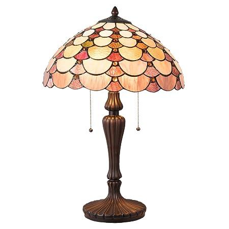 Lumilamp 5LL-5902 Tiffany - Lámpara de Mesa (40 x 60 cm, E27, máx ...
