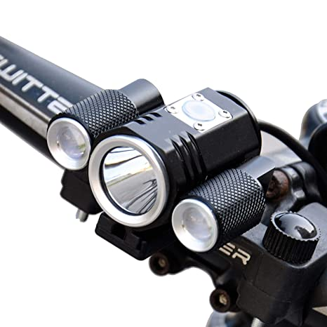2x T6 LED USB Waterproof Front Lamp Bike Bicycle Rechargeable 4Modes Headlight