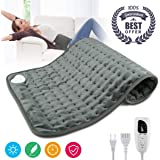 "Heating Pad,Electric Heating Pad 12""x24"" Large Heating Pads for Back Pain Auto Shut Off Heat Pad Moist Heating Pad with Timer,6 Temperature Settings Heated Pad for Neck,Shoulder,Elbow,Machine Washable"