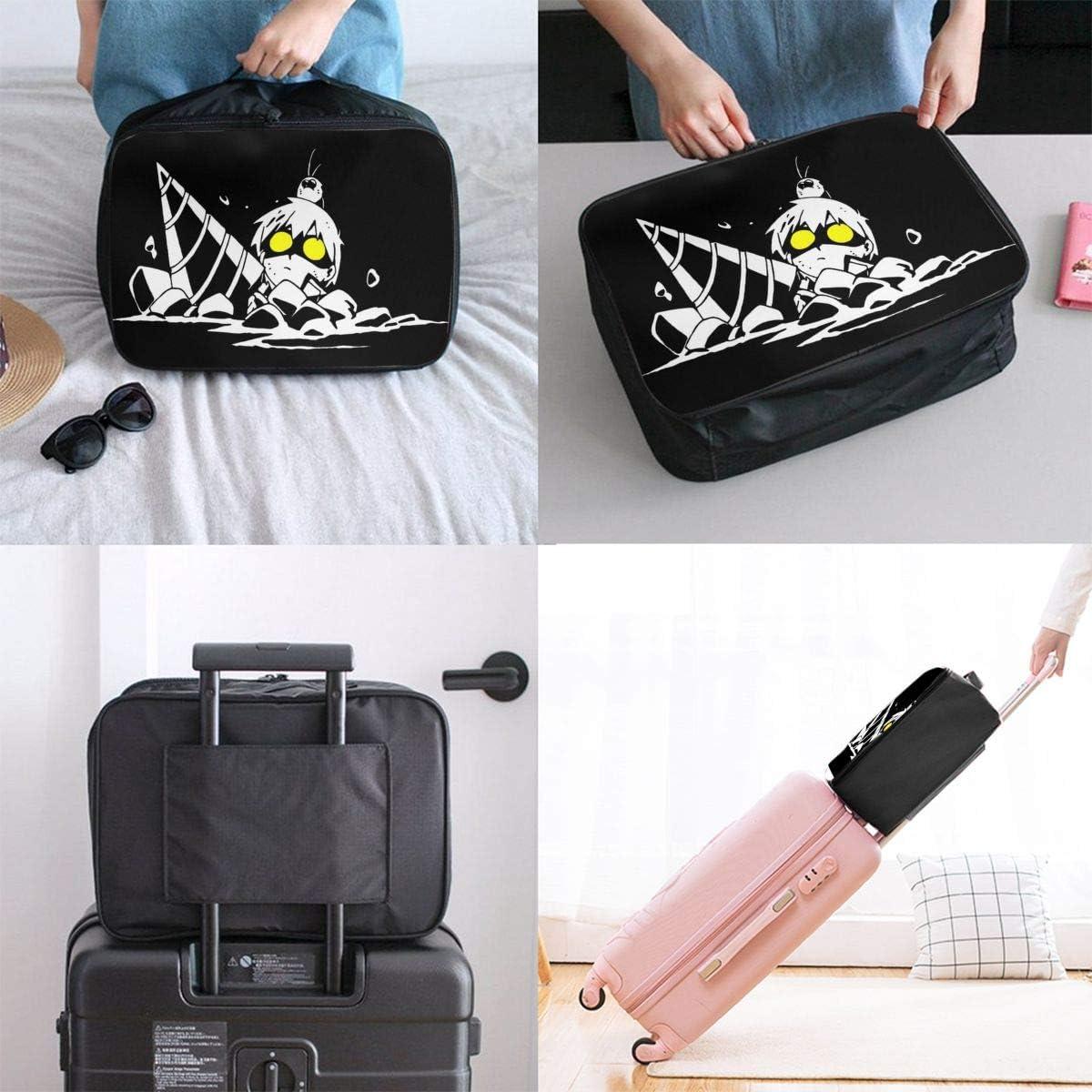 Gurren Lagann Lightweight Large Capacity Portable Luggage Bag Hanging Organizer Bag Makeup Bag