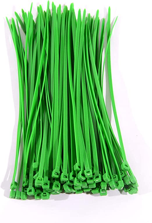 "100 PCS 8/"" GREEN Colored Cable Wire Tie 40 Lbs Nylon Zip Ties Multipurpose Strap"