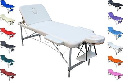 Mercurio Lettino Portatile Alluminio Per Massaggi Estetica