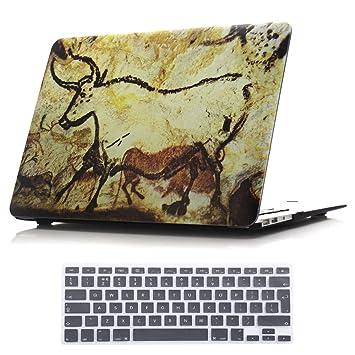 SUNWAY Macbook Retina Display Funda de 12 Pulgadas y Teclado Membrana, Ultra Fino Hermosa Frescos Funda rígida con Teclado Membrana para Macbook ...