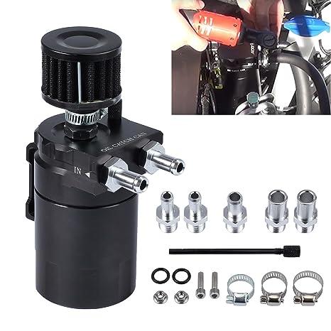 AUTOUTLET Kit de filtro universal de aluminio para depósito de aceite de tanque y depósito de