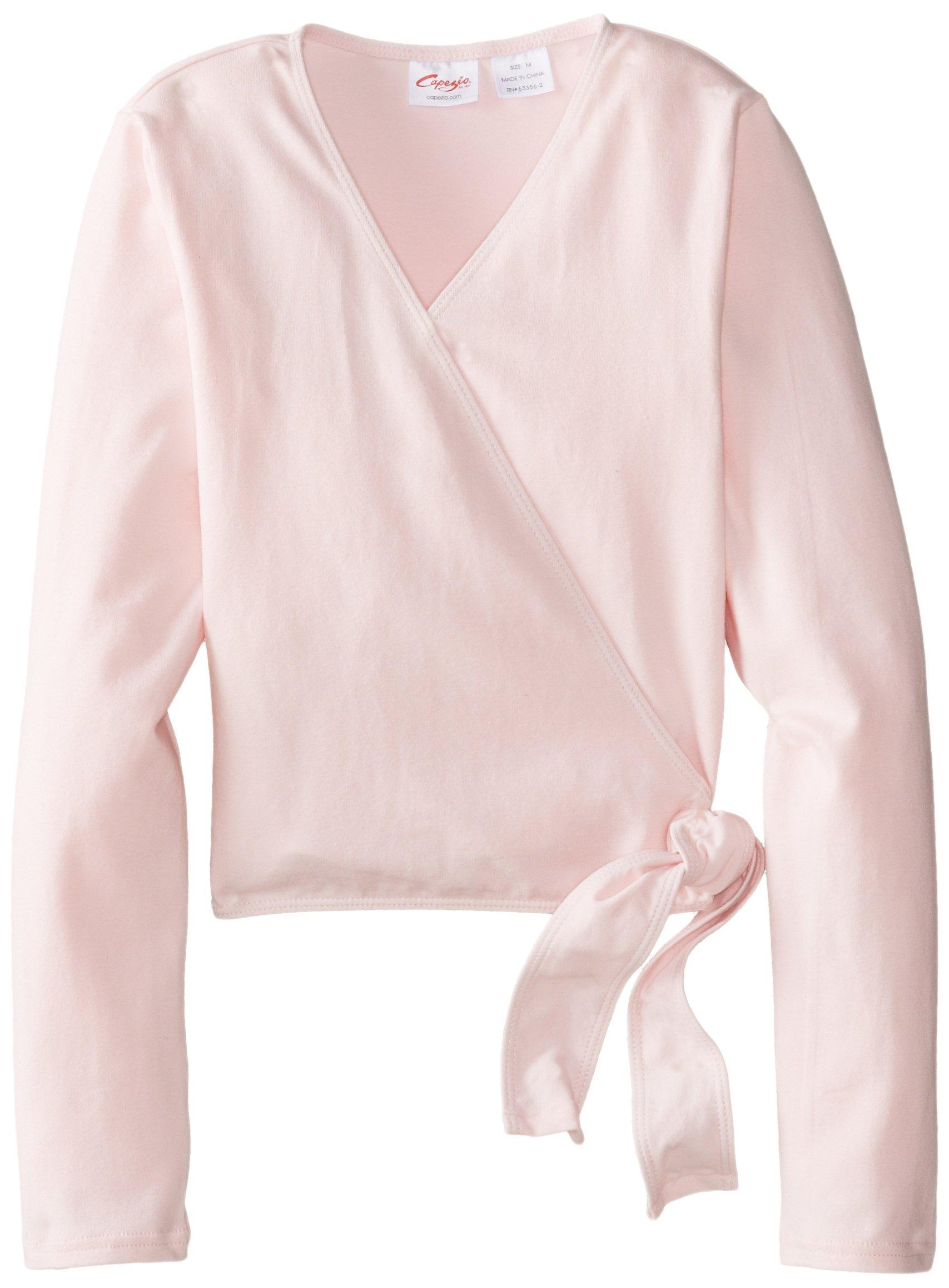 Capezio Big Girls' Classics Wrap Top, Pink, Medium