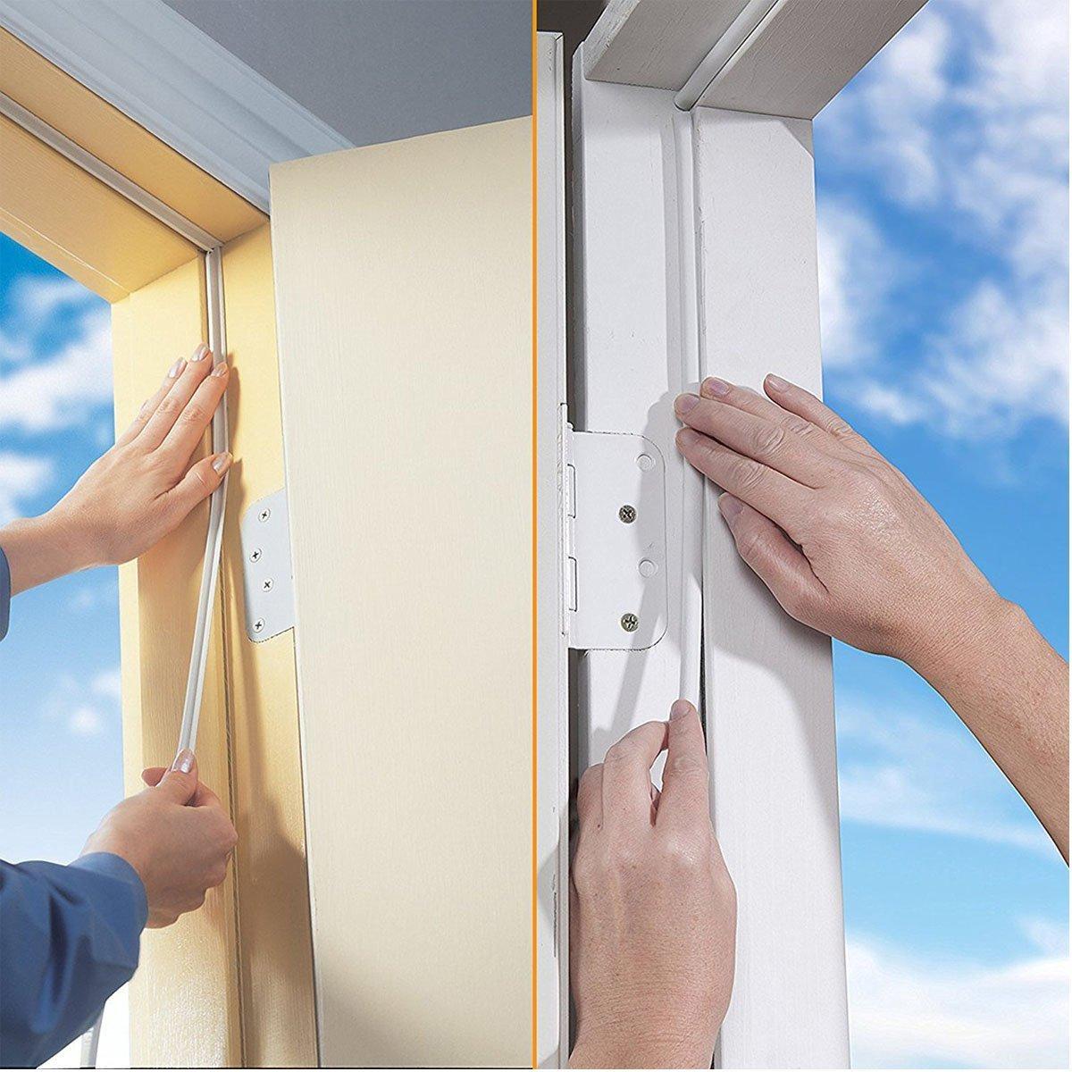 color blanco evita el ruido y las vibraciones para ventanas aislante e insonorizada Rantizon Stripping-01 reduce el sonido Cortina de goma autoadhesiva para puerta