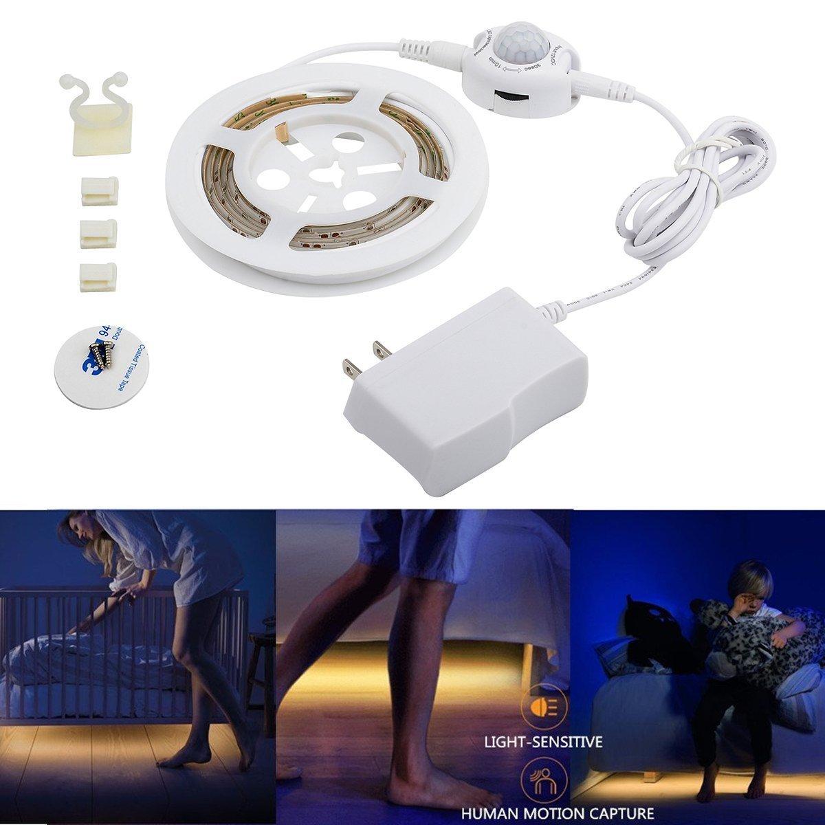 tdrforce 30seconds-6minutesモーションセンサーベッドライト、柔軟なLEDストリップ Single-bed light ホワイト TDR-B-66 B06X8YWV1J  Single-bed light